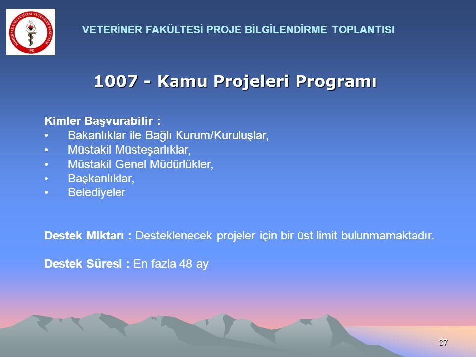 1007 - Kamu Projeleri Programı