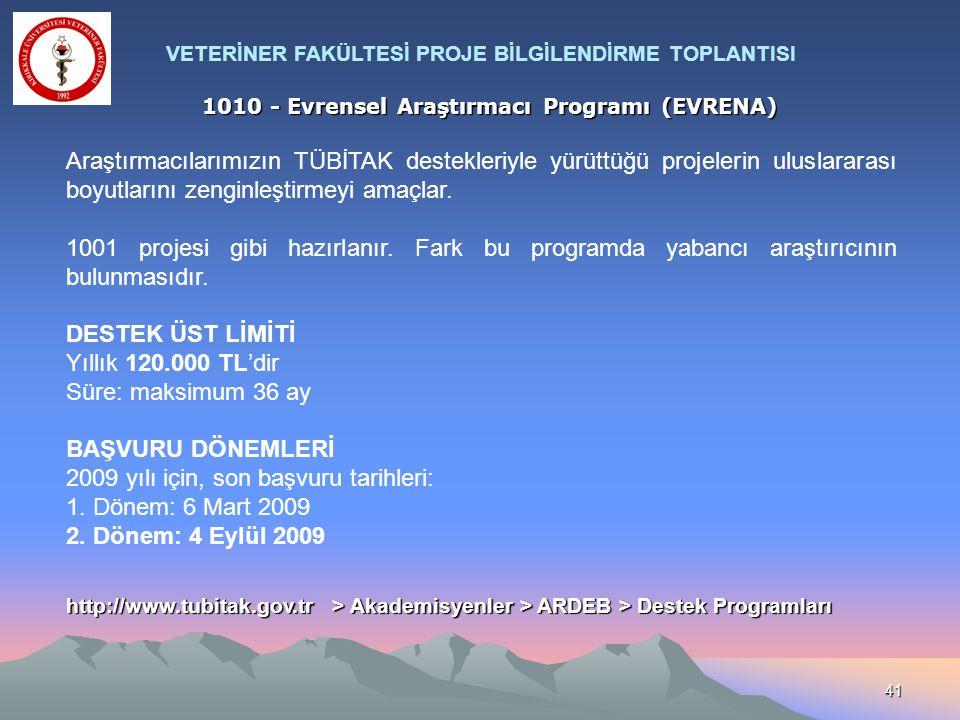 2009 yılı için, son başvuru tarihleri: 1. Dönem: 6 Mart 2009
