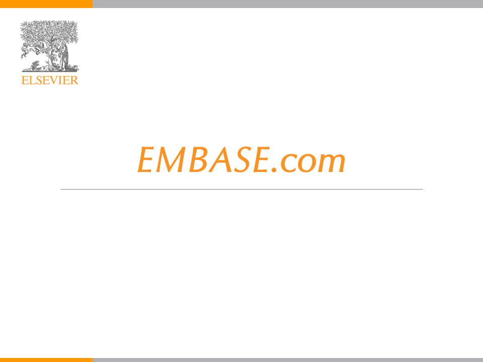 EMBASE.com EMBASE.com August 2005