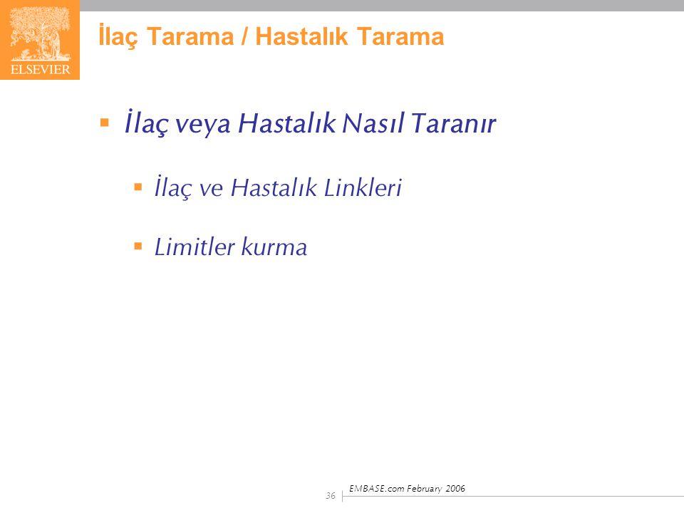 İlaç Tarama / Hastalık Tarama