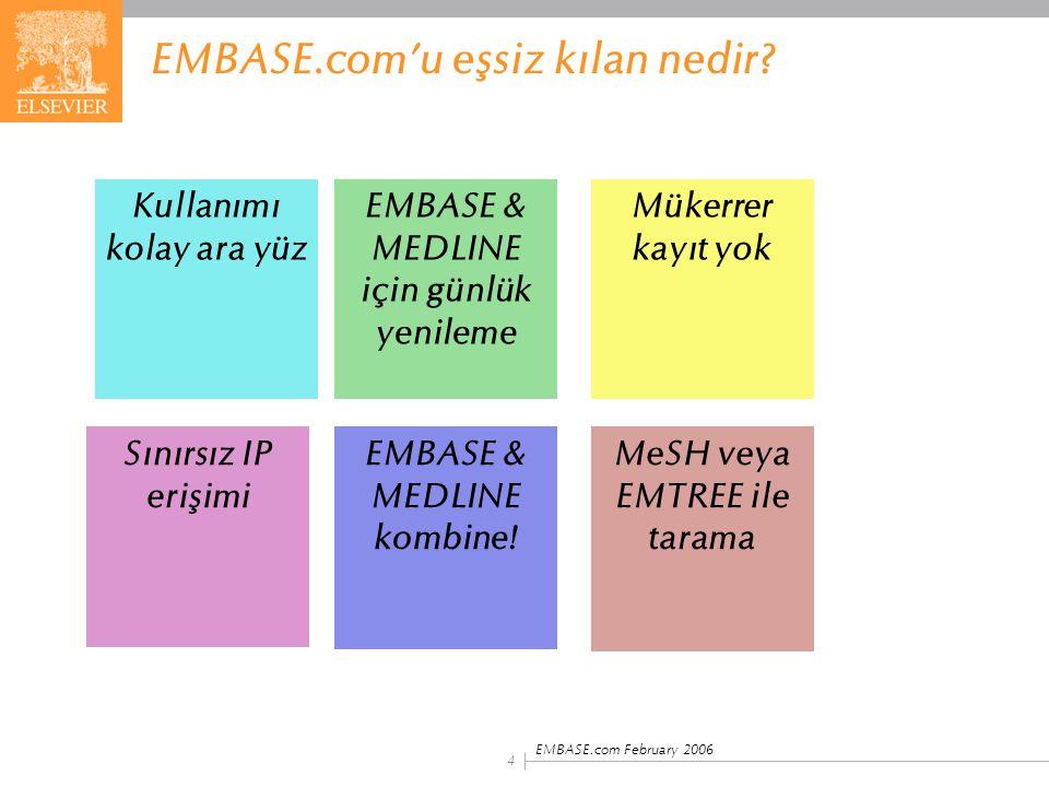 EMBASE.com'u eşsiz kılan nedir