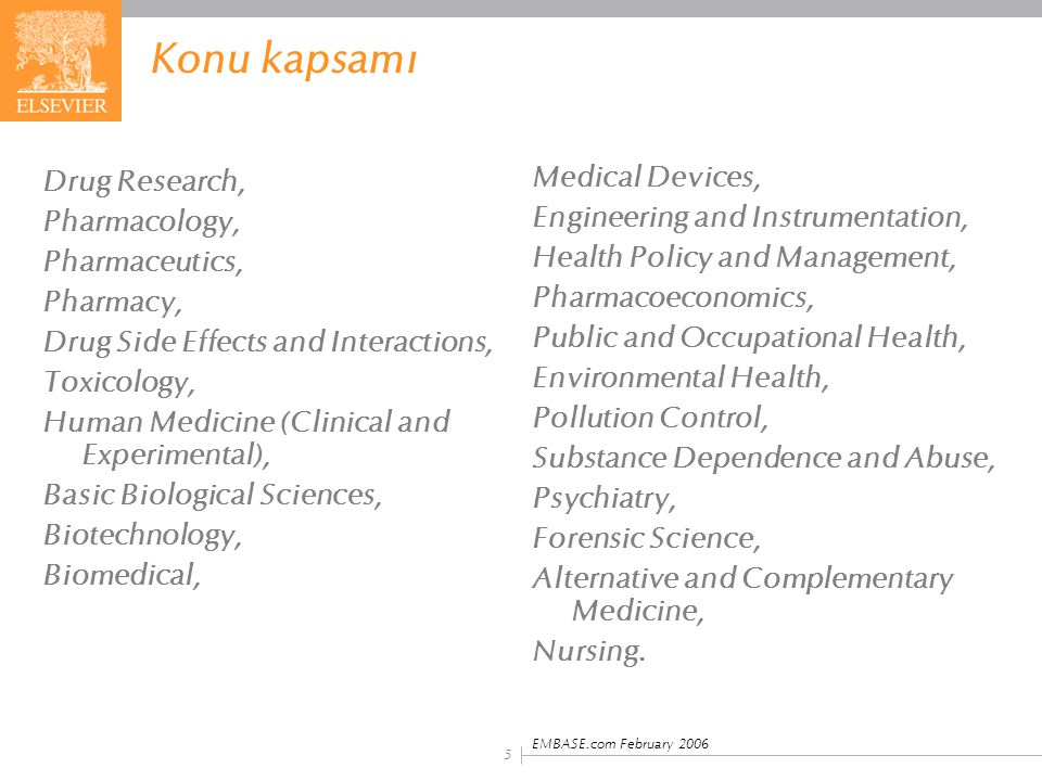 Konu kapsamı Medical Devices, Drug Research,