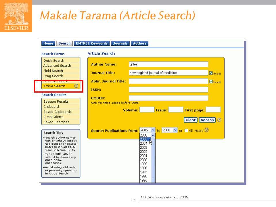 Makale Tarama (Article Search)
