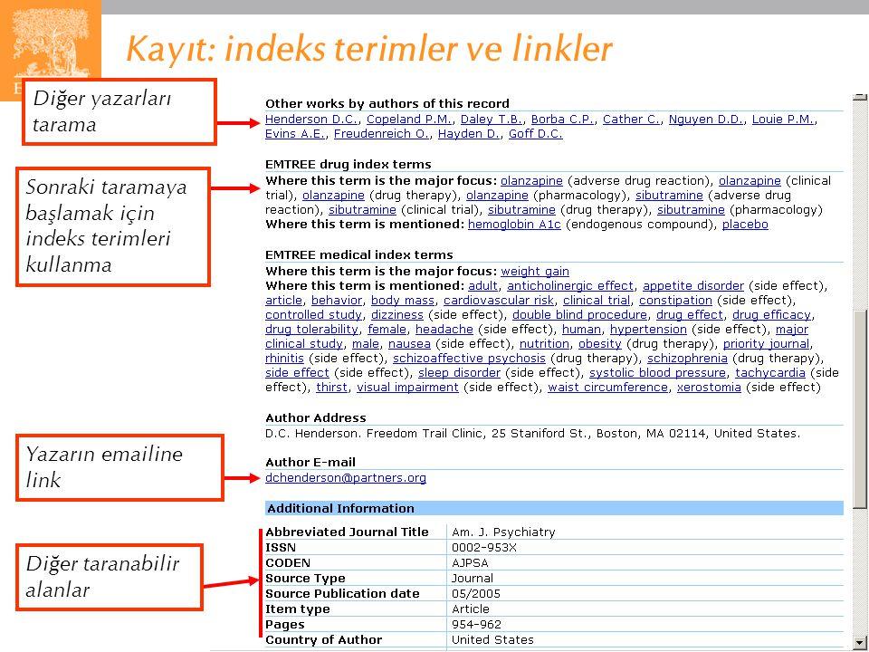 Kayıt: indeks terimler ve linkler