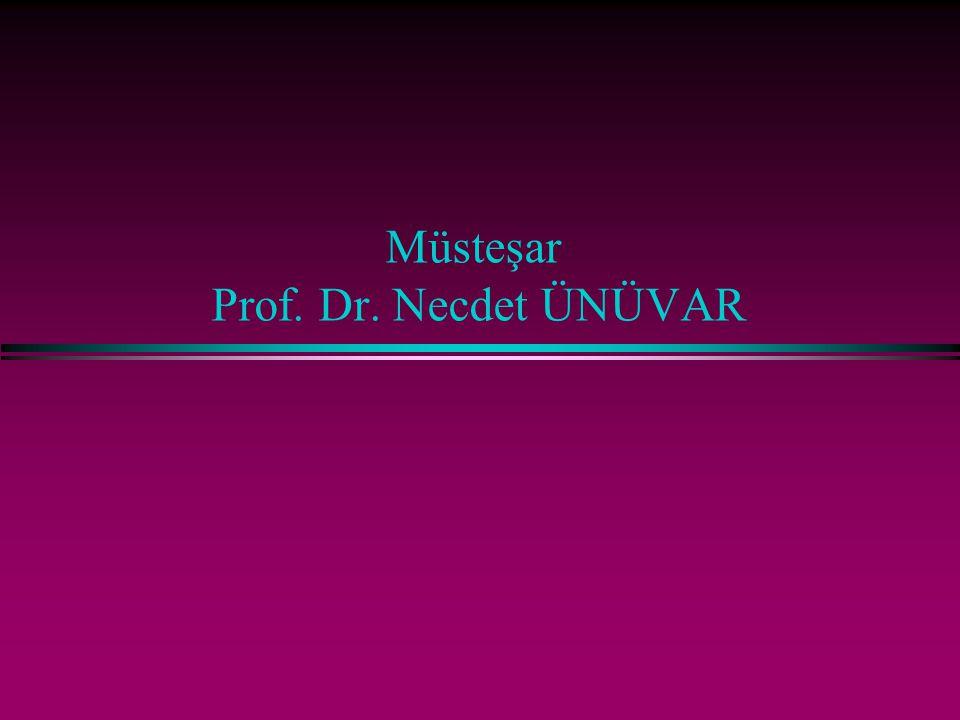 Müsteşar Prof. Dr. Necdet ÜNÜVAR