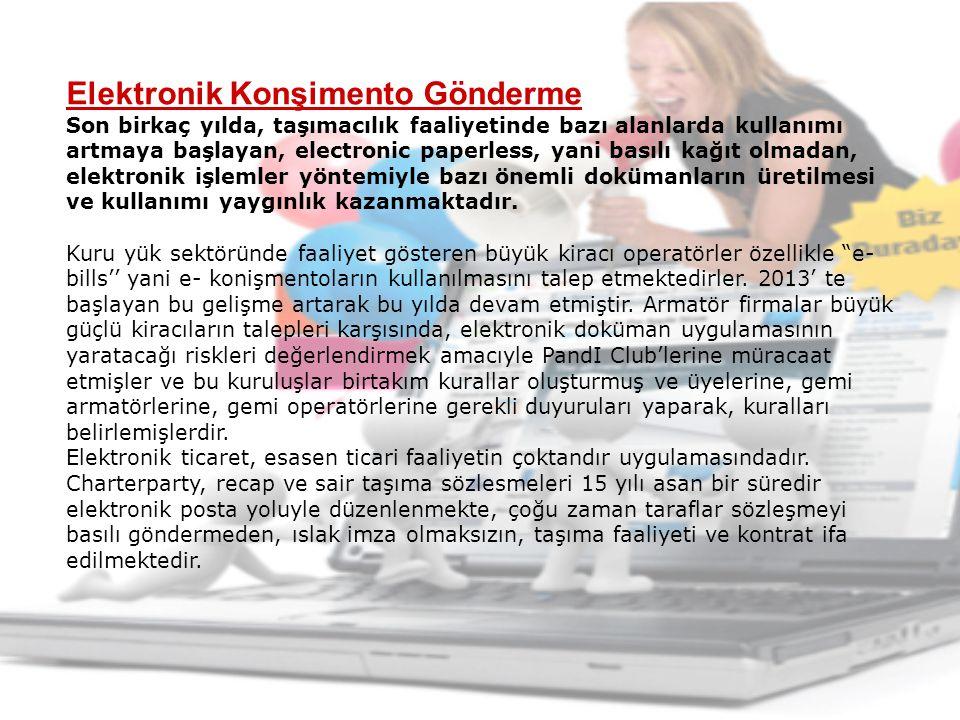 Elektronik Konşimento Gönderme