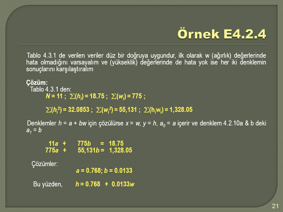 Örnek E4.2.4