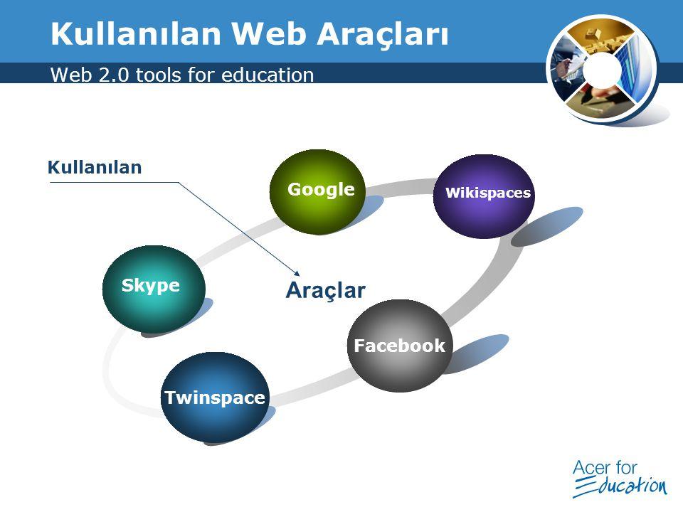 Kullanılan Web Araçları Web 2.0 tools for education