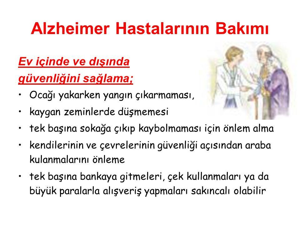 Alzheimer Hastalarının Bakımı