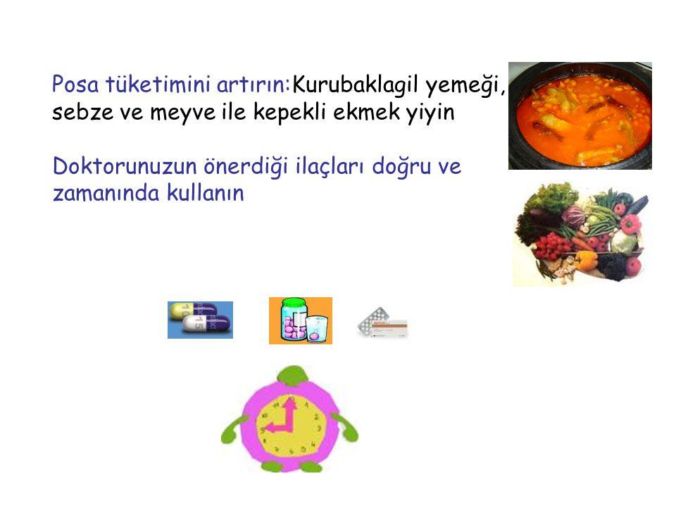 Posa tüketimini artırın:Kurubaklagil yemeği, sebze ve meyve ile kepekli ekmek yiyin