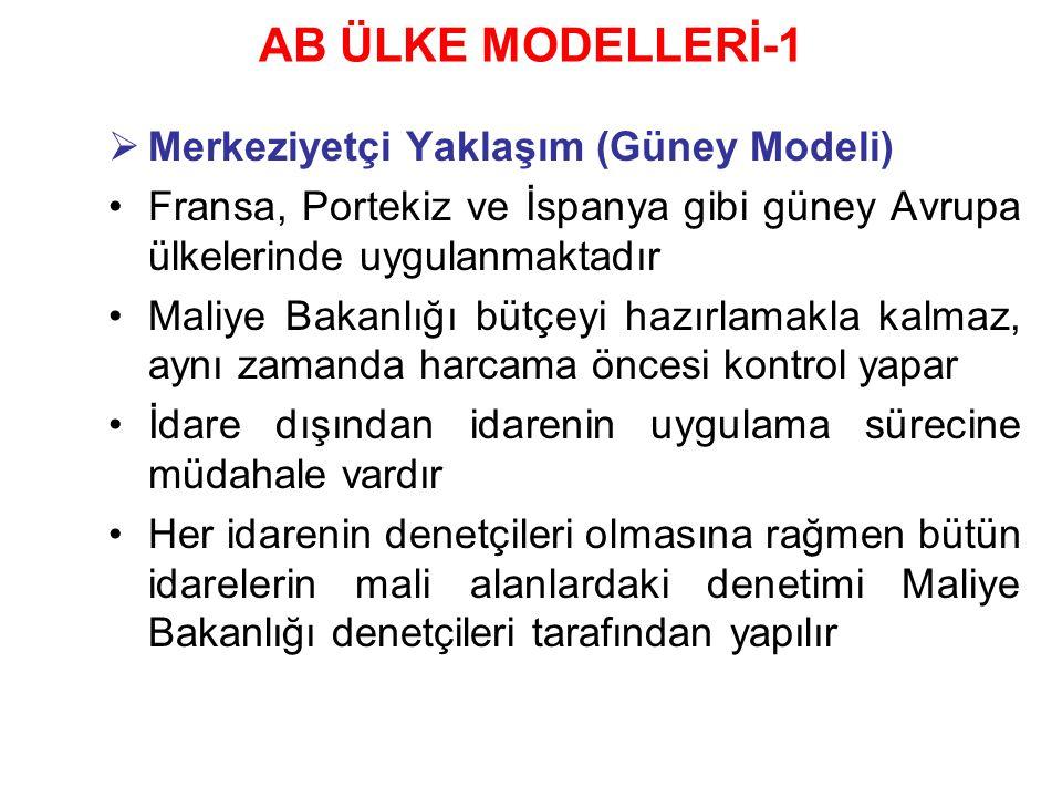 AB ÜLKE MODELLERİ-1 Merkeziyetçi Yaklaşım (Güney Modeli)