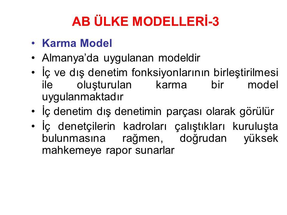 AB ÜLKE MODELLERİ-3 Karma Model Almanya'da uygulanan modeldir
