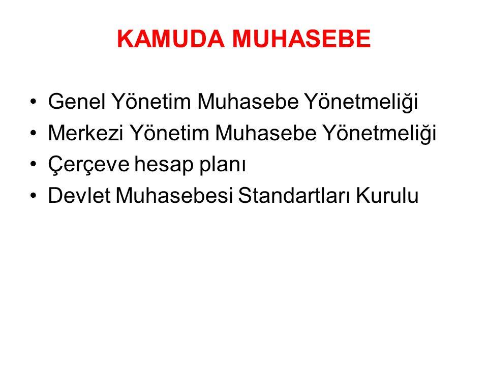 KAMUDA MUHASEBE Genel Yönetim Muhasebe Yönetmeliği