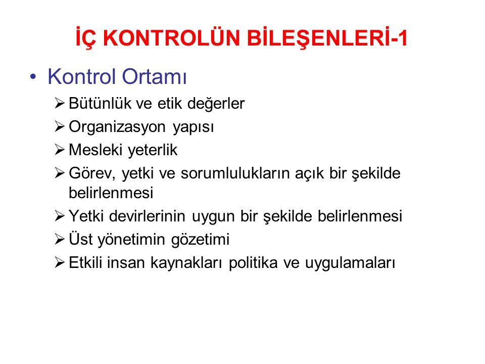 İÇ KONTROLÜN BİLEŞENLERİ-1