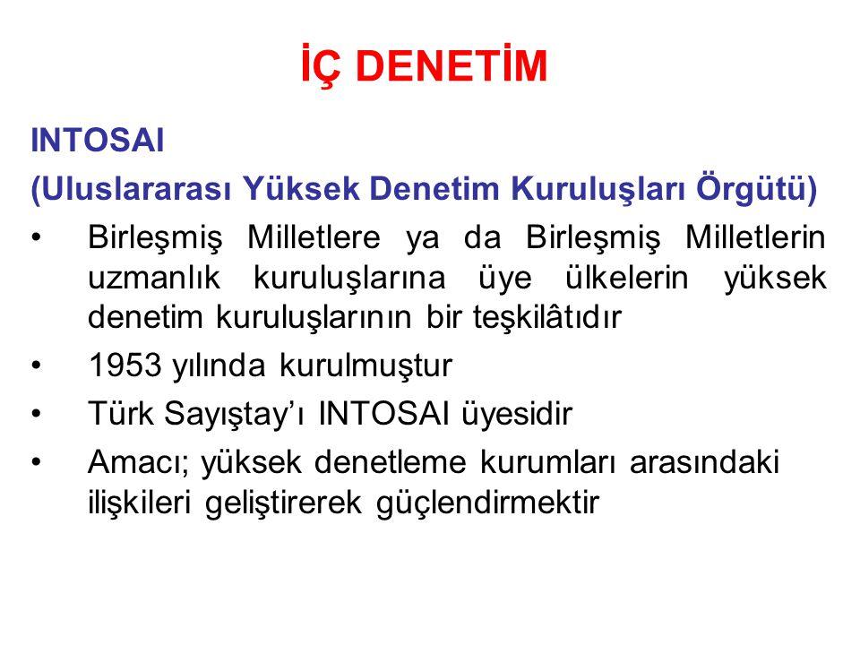 İÇ DENETİM INTOSAI (Uluslararası Yüksek Denetim Kuruluşları Örgütü)
