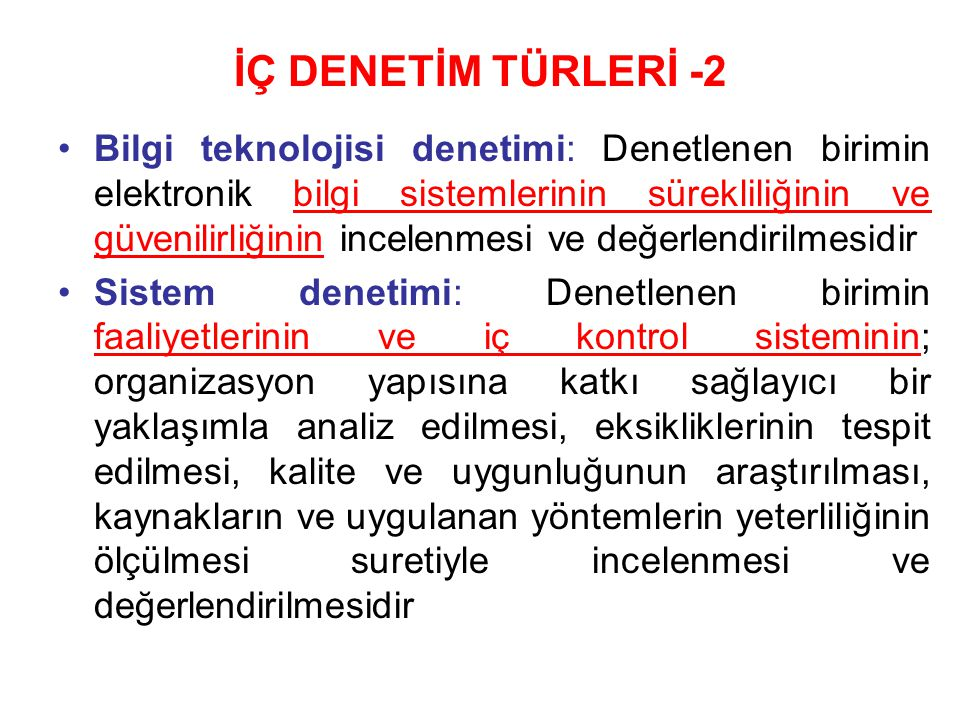 İÇ DENETİM TÜRLERİ -2