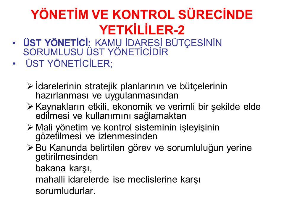 YÖNETİM VE KONTROL SÜRECİNDE YETKİLİLER-2