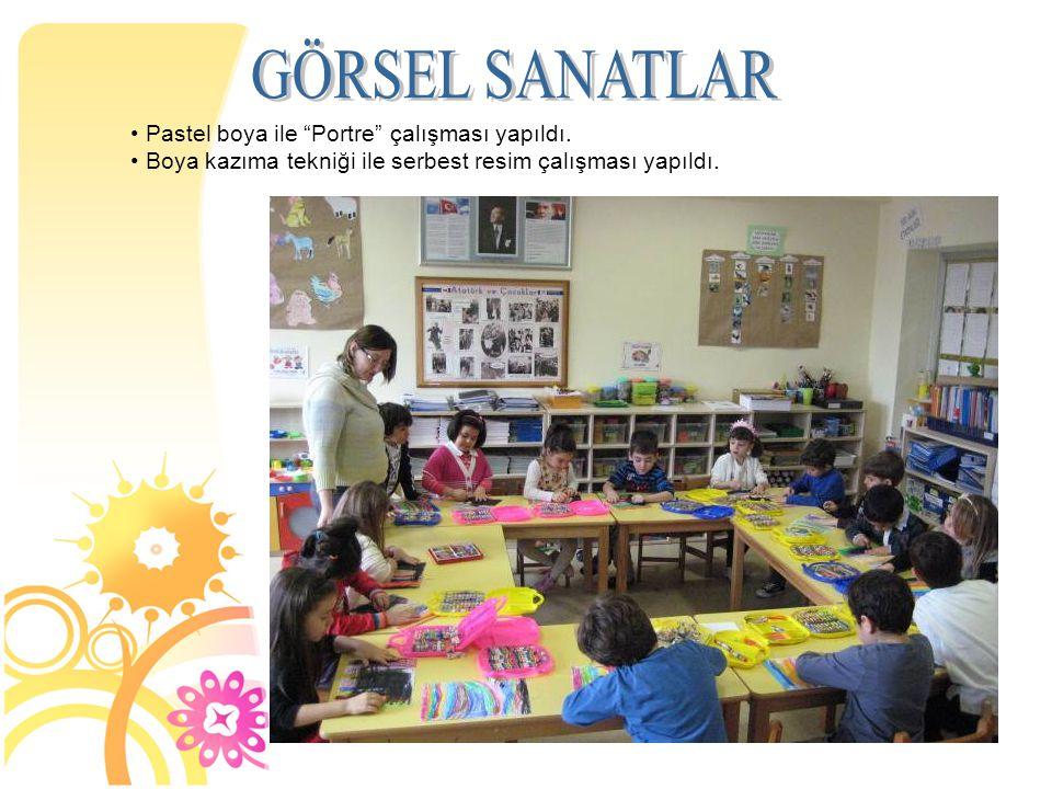 GÖRSEL SANATLAR Pastel boya ile Portre çalışması yapıldı.