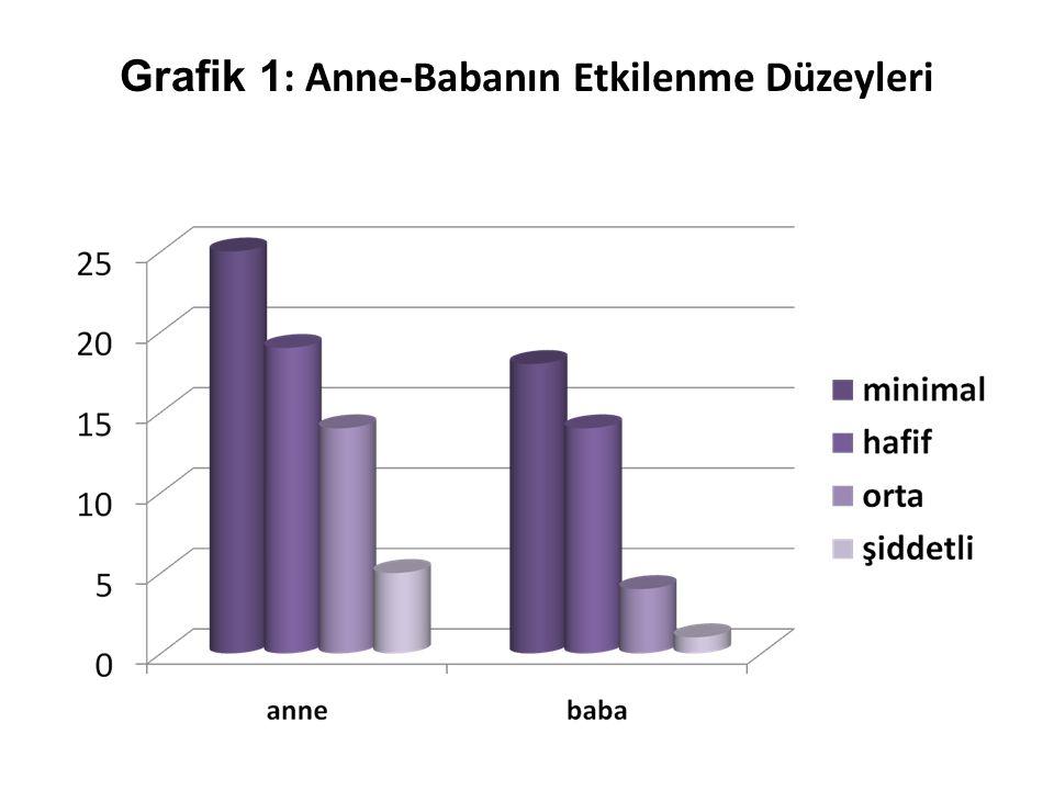 Grafik 1: Anne-Babanın Etkilenme Düzeyleri