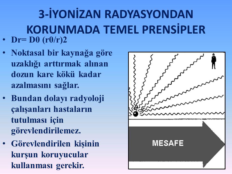 3-İYONİZAN RADYASYONDAN KORUNMADA TEMEL PRENSİPLER