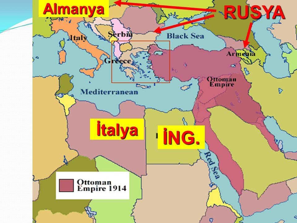 Almanya RUSYA İtalya İNG.
