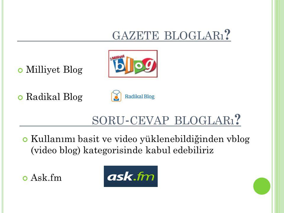 gazete blogları soru-cevap blogları Milliyet Blog Radikal Blog