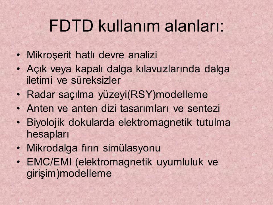 FDTD kullanım alanları: