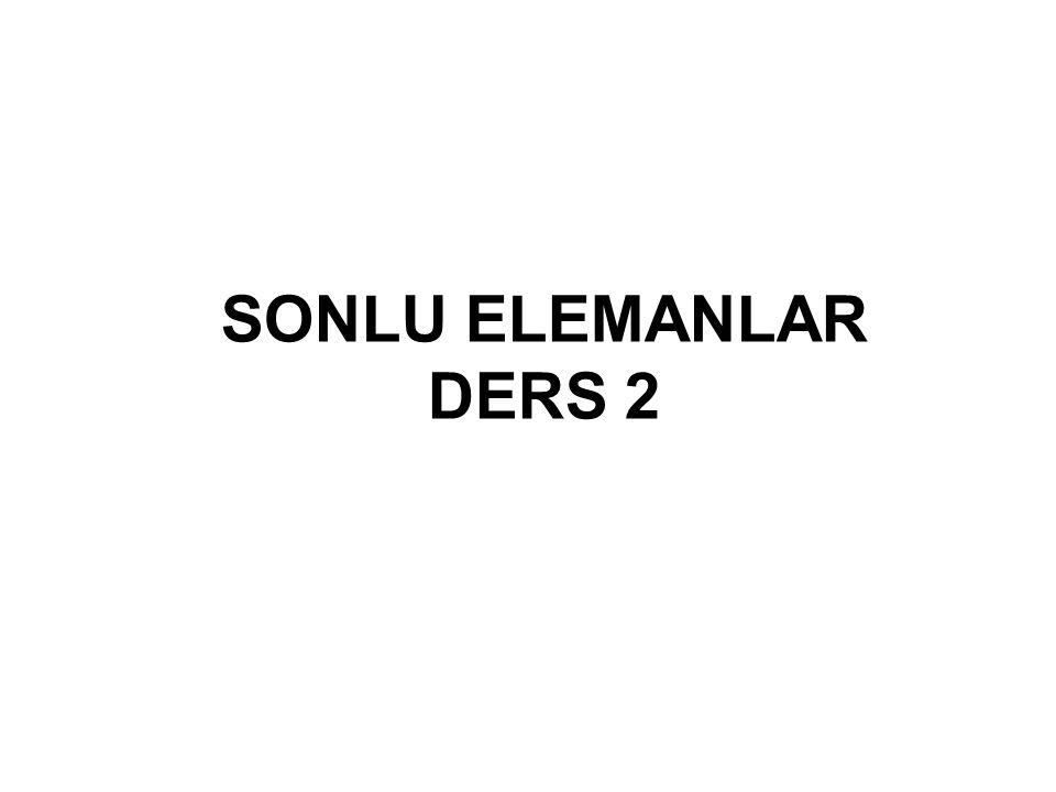 SONLU ELEMANLAR DERS 2