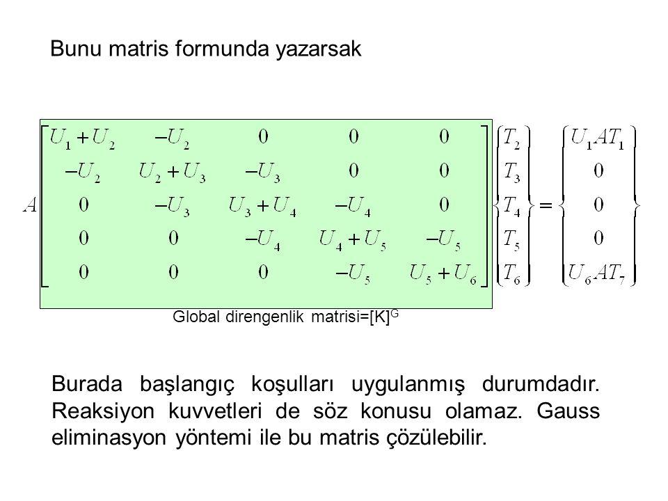 Bunu matris formunda yazarsak
