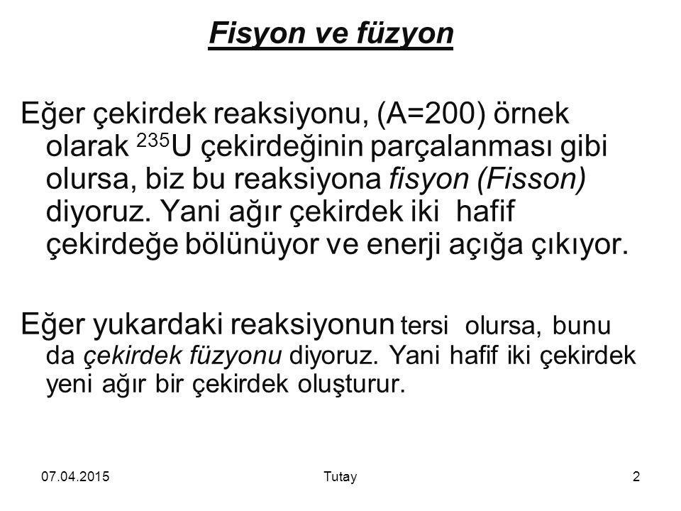 Fisyon ve füzyon