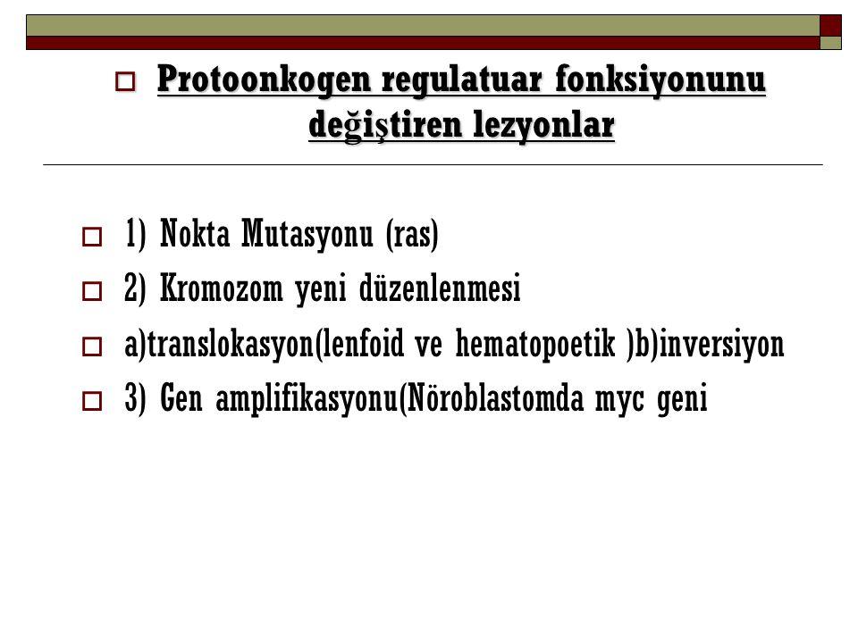 Protoonkogen regulatuar fonksiyonunu değiştiren lezyonlar