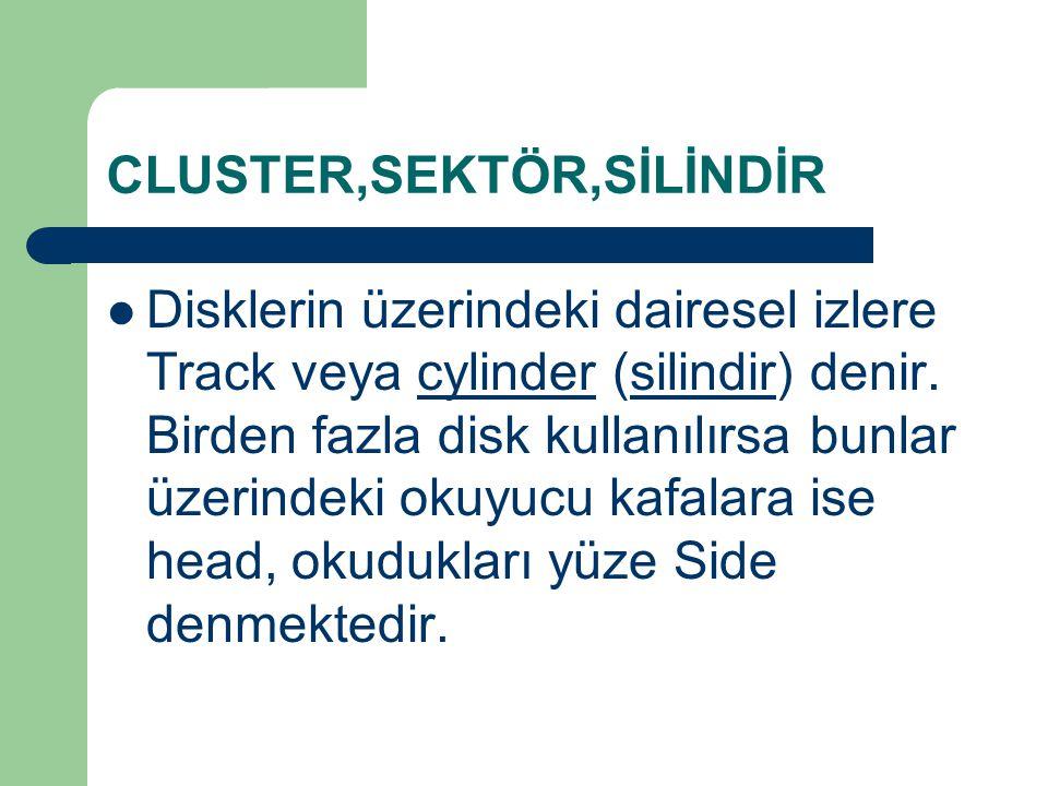 CLUSTER,SEKTÖR,SİLİNDİR