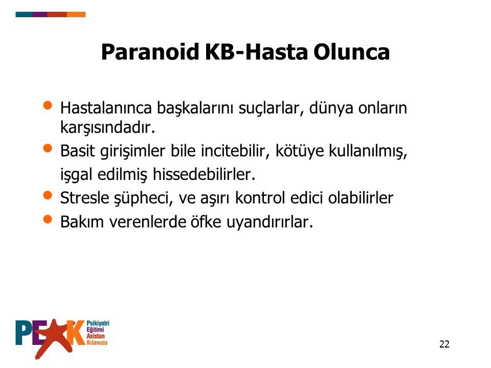 Paranoid KB-Hasta Olunca