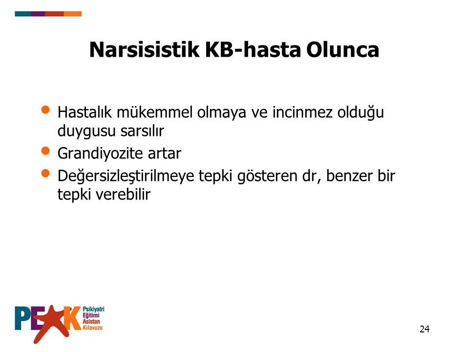 Narsisistik KB-hasta Olunca