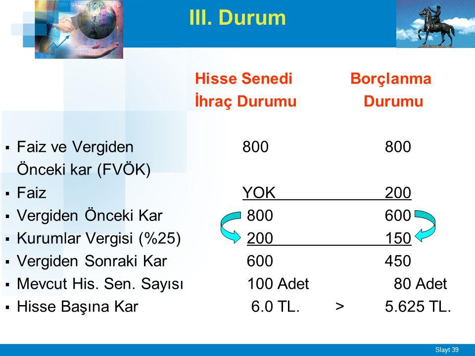 ÖRNEK - 2 X A.Ş. 50.000 TL'lik yatırım yapacaktır. İşletme,