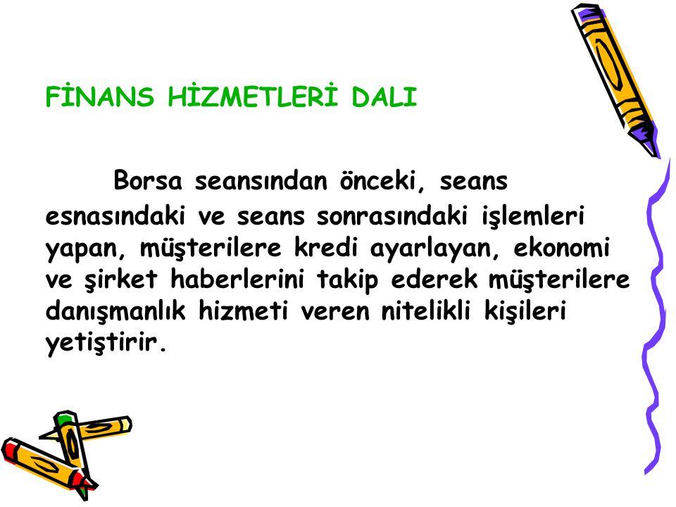 FİNANS HİZMETLERİ DALI