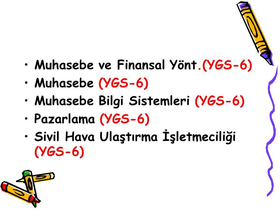 Muhasebe ve Finansal Yönt.(YGS-6)