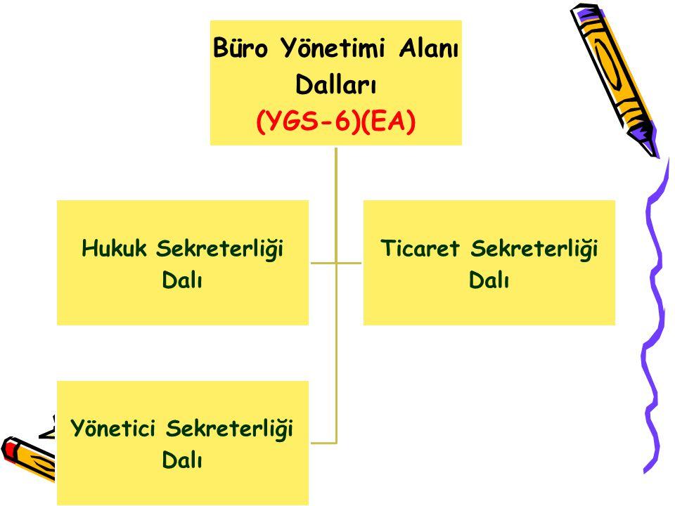 Büro Yönetimi Alanı Dalları (YGS-6)(EA)
