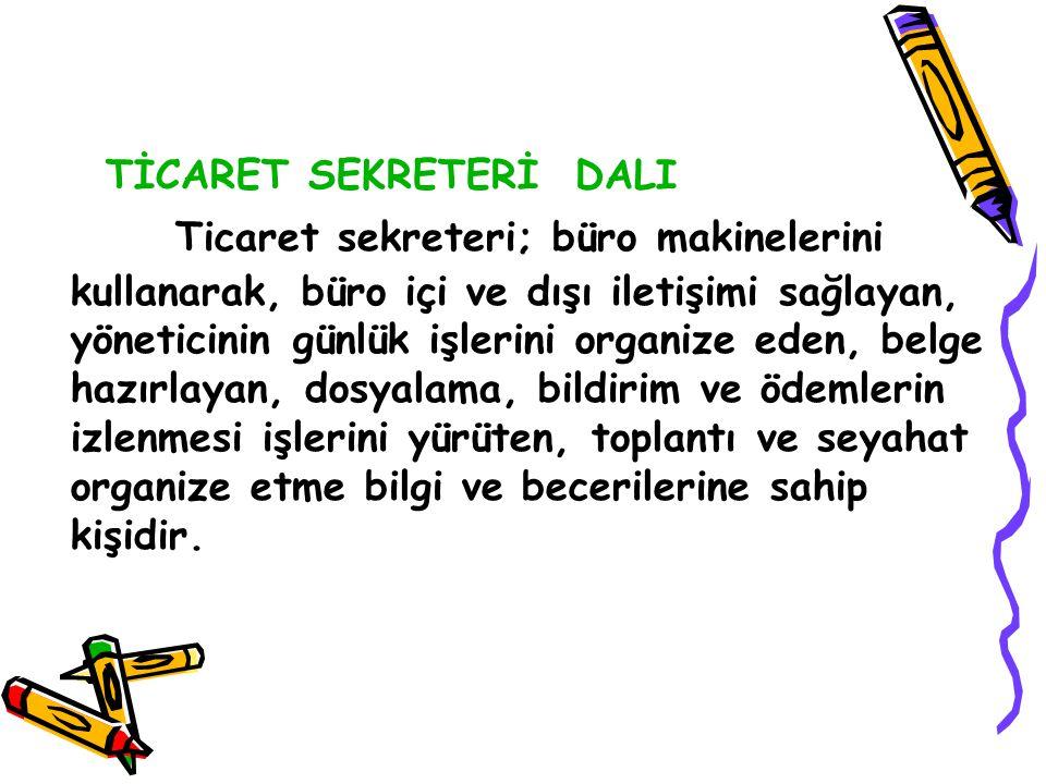 TİCARET SEKRETERİ DALI