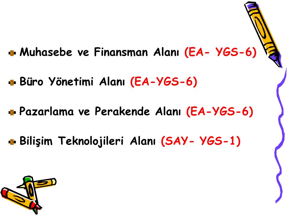Muhasebe ve Finansman Alanı (EA- YGS-6)