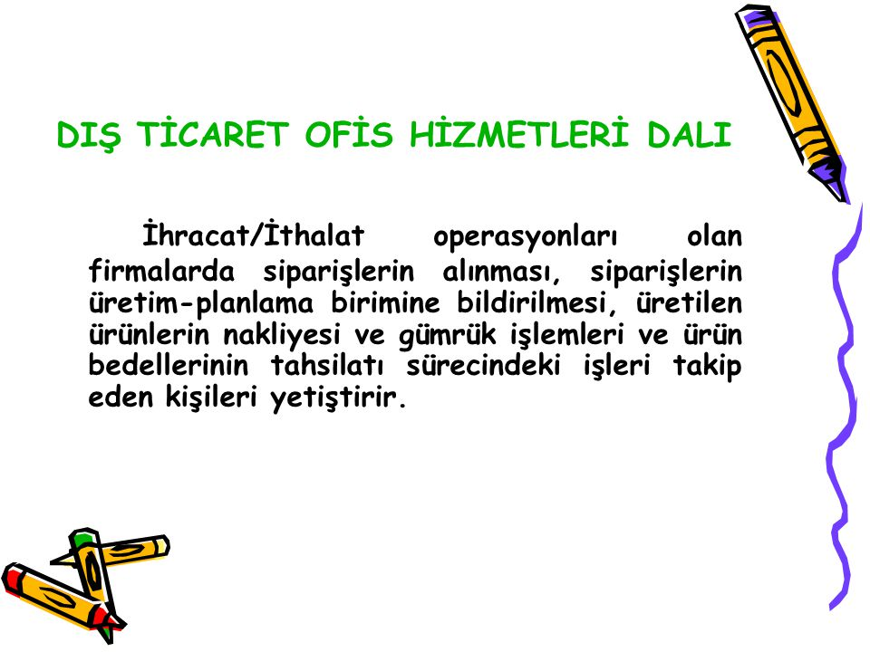 DIŞ TİCARET OFİS HİZMETLERİ DALI