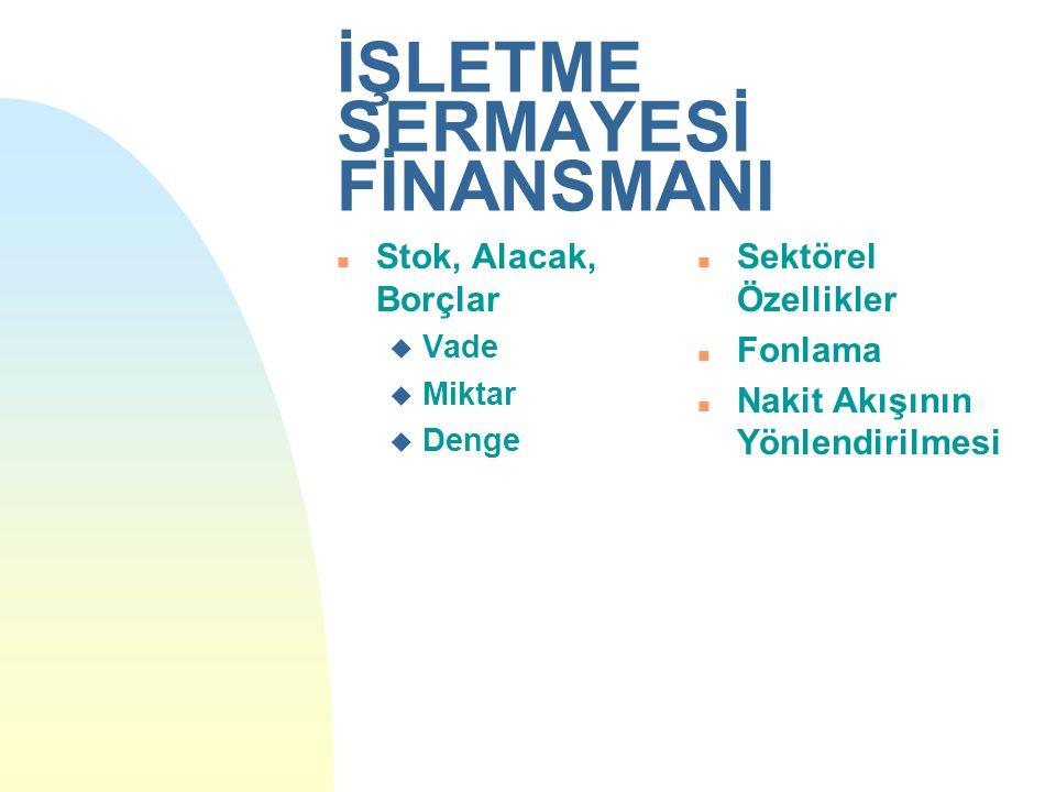 İŞLETME SERMAYESİ FİNANSMANI