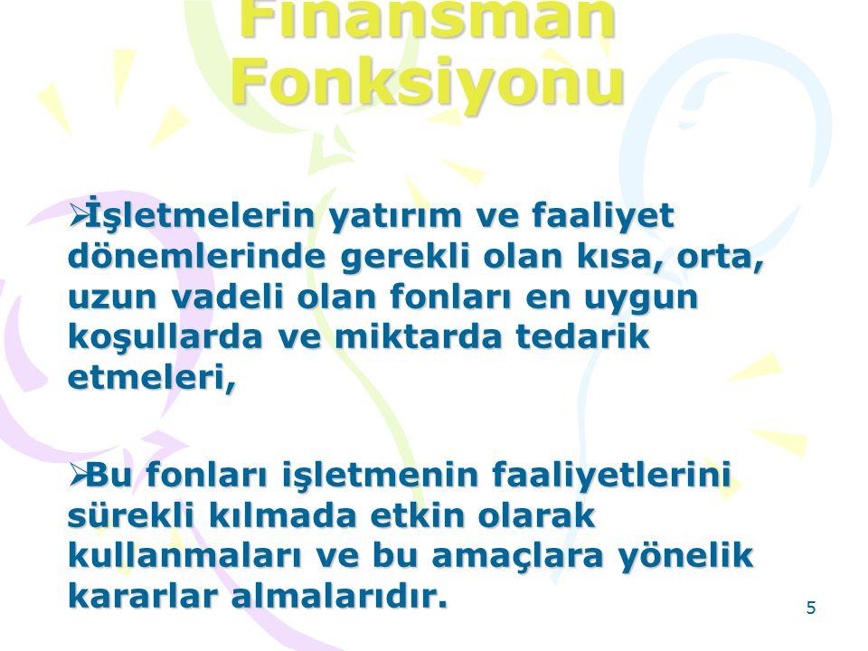 Finansman Fonksiyonu