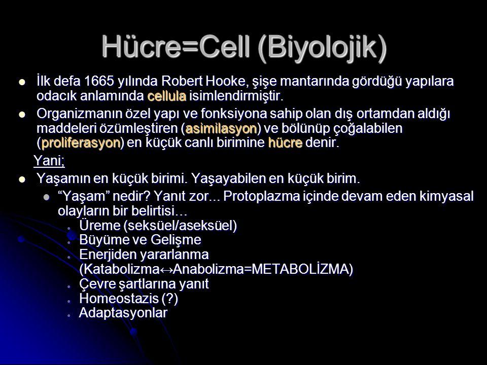 Hücre=Cell (Biyolojik)