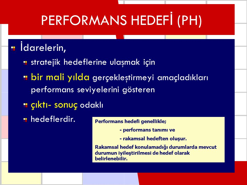 PERFORMANS HEDEFİ (PH)