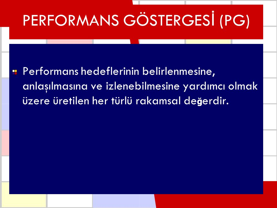 PERFORMANS GÖSTERGESİ (PG)