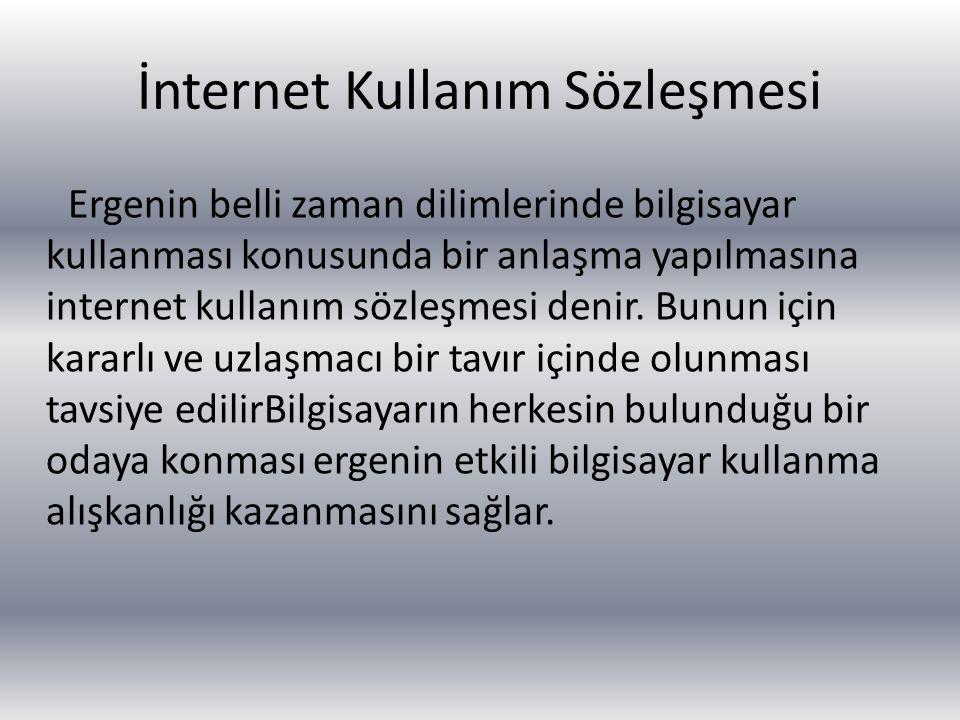 İnternet Kullanım Sözleşmesi