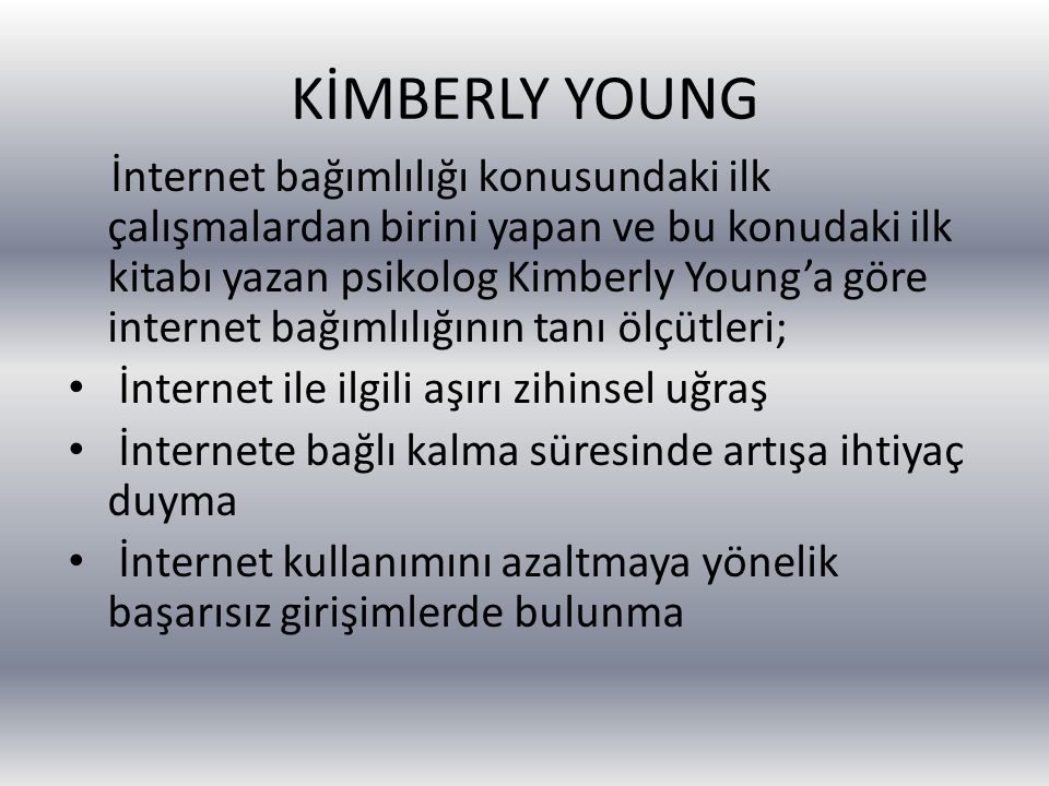 KİMBERLY YOUNG