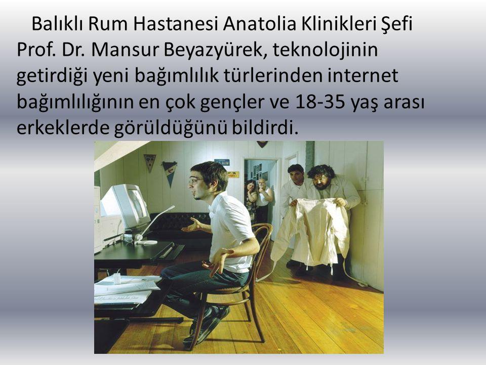 Balıklı Rum Hastanesi Anatolia Klinikleri Şefi Prof. Dr