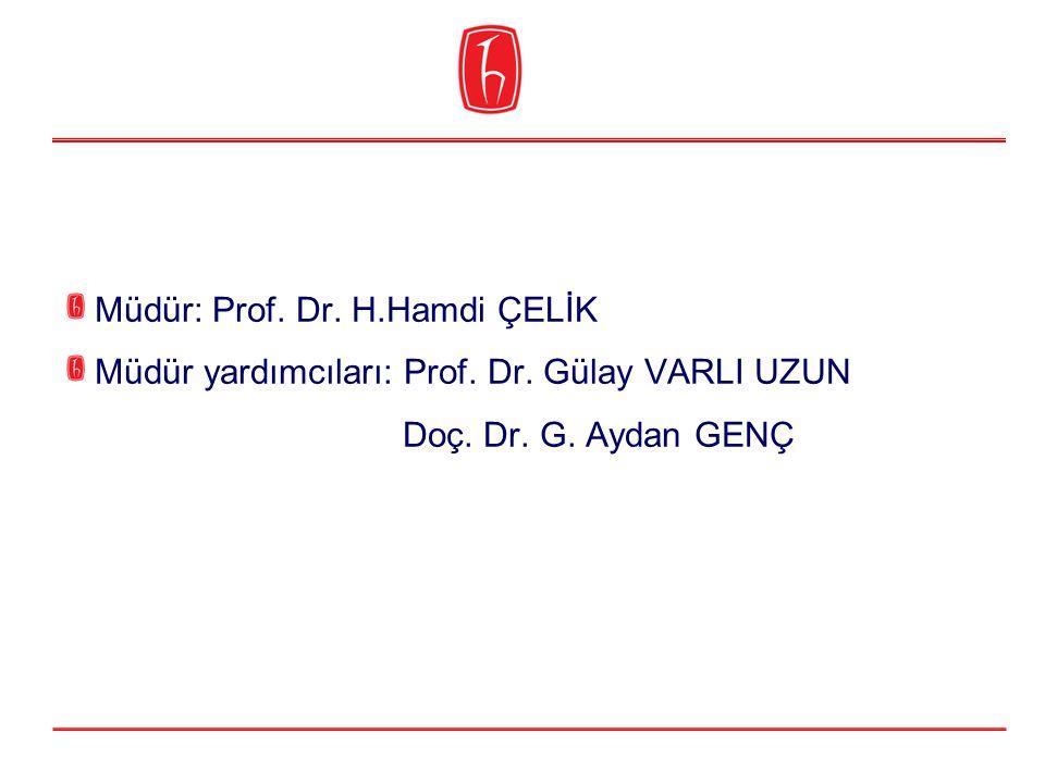 Müdür: Prof. Dr. H.Hamdi ÇELİK